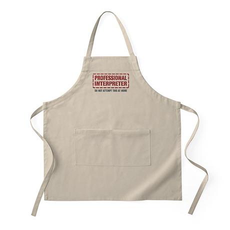Professional Interpreter BBQ Apron