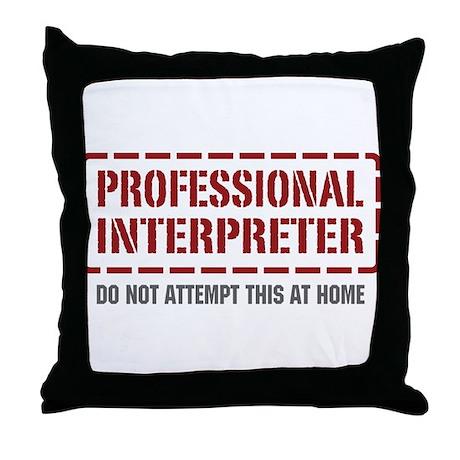 Professional Interpreter Throw Pillow