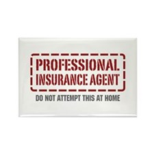 Professional Insurance Agent Rectangle Magnet