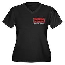 Professional HVAC Person Women's Plus Size V-Neck
