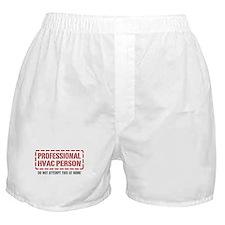 Professional HVAC Person Boxer Shorts