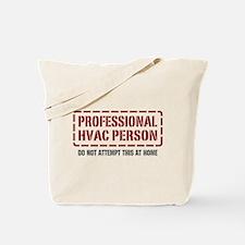 Professional HVAC Person Tote Bag