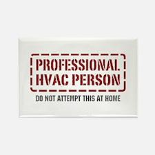 Professional HVAC Person Rectangle Magnet