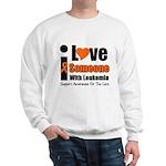 I Love Someone w/Leukemia Sweatshirt