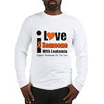 I Love Someone w/Leukemia Long Sleeve T-Shirt