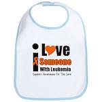I Love Someone w/Leukemia Bib