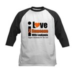 I Love Someone w/Leukemia Kids Baseball Jersey