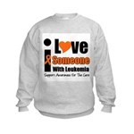 I Love Someone w/Leukemia Kids Sweatshirt