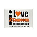 I Love Someone w/Leukemia Rectangle Magnet