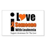 I Love Someone w/Leukemia Rectangle Sticker 10 pk