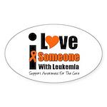 I Love Someone w/Leukemia Oval Sticker (10 pk)