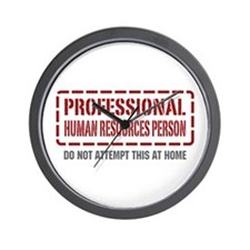 Professional Human Resources Person Wall Clock