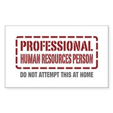 Professional Human Resources Person Decal