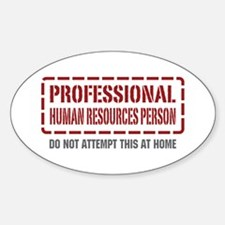 Professional Human Resources Person Oval Decal