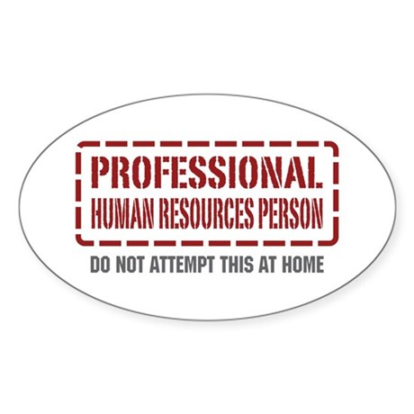 Professional Human Resources Person Oval Sticker