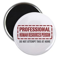 Professional Human Resources Person Magnet
