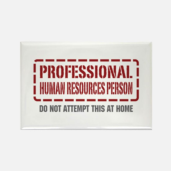 Professional Human Resources Person Rectangle Magn