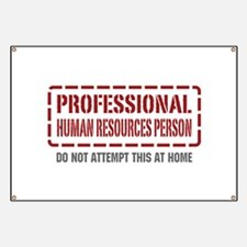 Professional Human Resources Person Banner