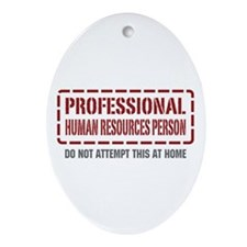 Professional Human Resources Person Ornament (Oval
