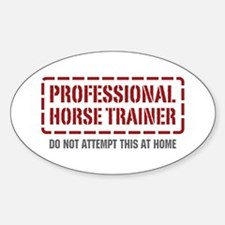 Professional Horse Trainer Oval Decal