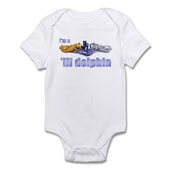 I'm a 'lil Dolphin -- Gold & Infant Bodysuit