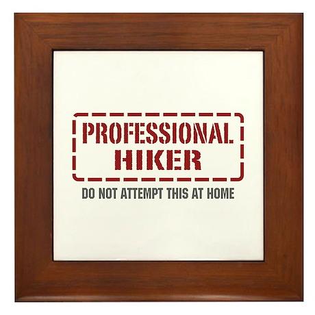 Professional Hiker Framed Tile