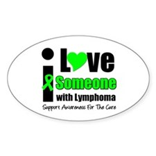 I Love Someone w/Lymphoma Oval Sticker (10 pk)