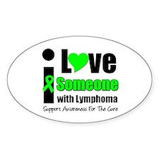 I Love Someone w/Lymphoma Oval Sticker (10 pk)