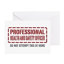 Professional Health and Safety Officer Greeting Ca