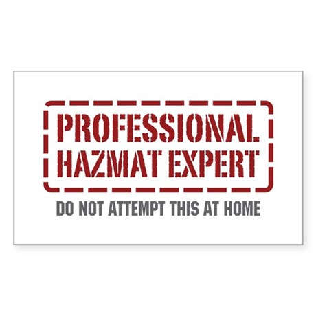 Professional Hazmat Expert Rectangle Sticker