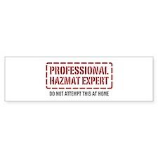 Professional Hazmat Expert Bumper Bumper Sticker