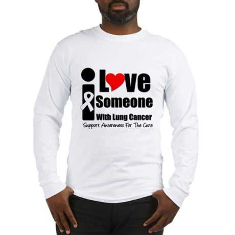 I Love Someone (Lung Cancer) Long Sleeve T-Shirt