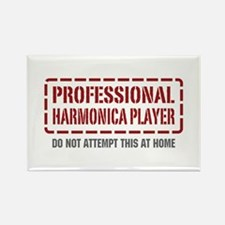 Professional Harmonica Player Rectangle Magnet