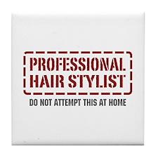 Professional Hair Stylist Tile Coaster