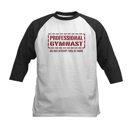 Professional Gymnast Kids Baseball Jersey