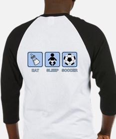 EAT SLEEP SOCCER (baby blue) Baseball Jersey