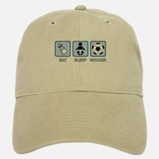 EAT SLEEP SOCCER (baby blue) Baseball Baseball Cap