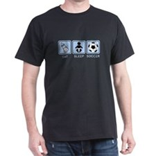 EAT SLEEP SOCCER (baby blue) T-Shirt