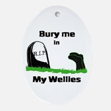 Bury in wellies Oval Ornament