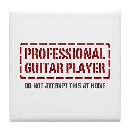 Professional Guitar Player Tile Coaster