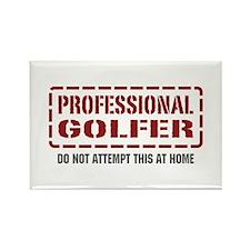 Professional Golfer Rectangle Magnet