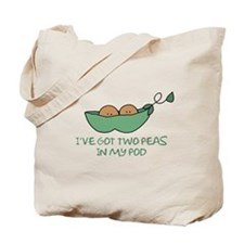 Two peas (darker skin) Tote Bag