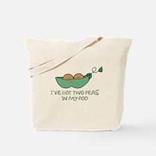 Two peas (darker skin) Tote Bag