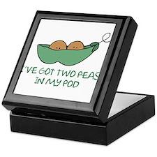Two peas (darker skin) Keepsake Box
