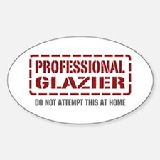 Professional Glazier Oval Decal
