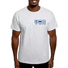 EAT SLEEP SOCCER (blue) T-Shirt