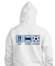 EAT SLEEP SOCCER (blue) Hoodie