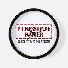 Professional Gamer Wall Clock