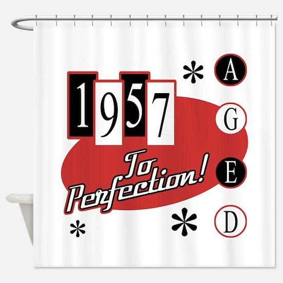 1957 Birthday Mid Century Shower Curtain