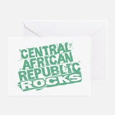 Central African Republic Rocks Greeting Card